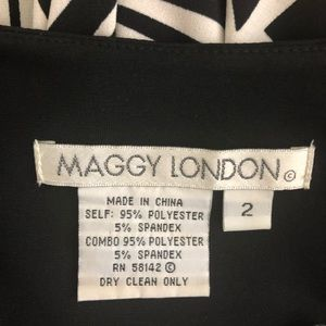 Maggy London Dresses - Maggy London Black and White Short Maxi Size 2